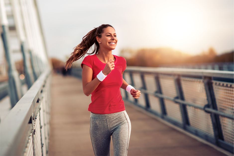 Girl Jogging During American Heart Month